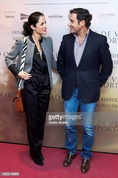 Carolina Adriana Herrera and husband Miguel Baez 'El Litri' attend 'Lo Que De Verdad Importa' premiere at the Capitol cinema on February 15 2017 in...