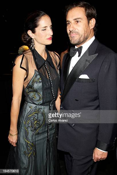 Carolina Adriana Herrera and husband Spanish bullfigther Miguel Baez 'Litri' attend the 'Cartier Exhibition' Gala presentation at the Museum Thyssen...