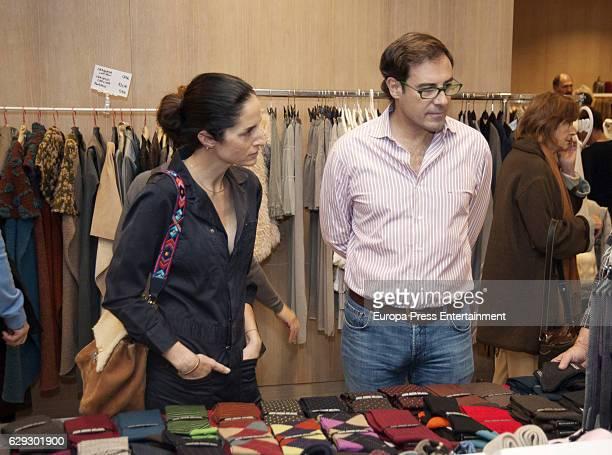 Carolina Adriana Herrera and Miguel Baez 'El Litri' attend Aladina Foundation's charity market on December 11 2016 in Madrid Spain