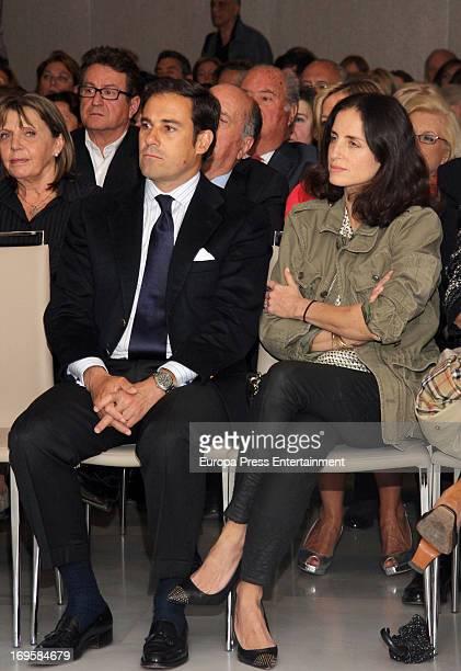 Carolina Adriana Herrera and Miguel Baez 'El Litri' attend the launch of 'Enrique Ponce Un Torero Para La Historia' on May 27 2013 in Madrid Spain