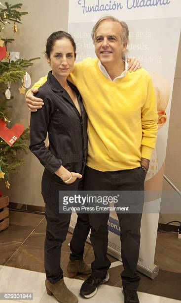 Carolina Adriana Herrera and Paco Arango attend Aladina Foundation's charity market on December 11 2016 in Madrid Spain