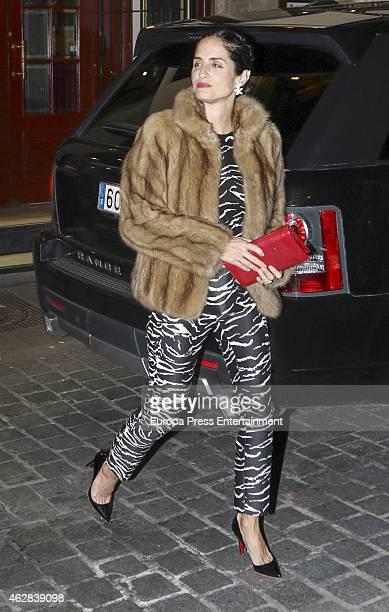 Carolina Adriana Herrera attends Giancarlo Giammetti birthday party on February 5 2015 in Madrid Spain