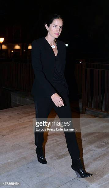 Carolina Adriana Herrera attends the funeral service for Graciliano Barrerios at San Jeronimo el Real church on October 16 2014 in Madrid Spain