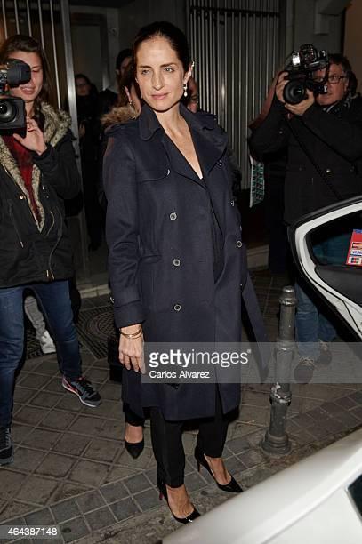 Carolina Adriana Herrera attends the Ruinart Rose 250th Anniversary party at the Marlborough Art Gallery on February 25 2015 in Madrid Spain