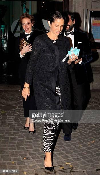 Carolina Adriana Herrera attends Tiffany charity party on December 10 2014 in Madrid Spain