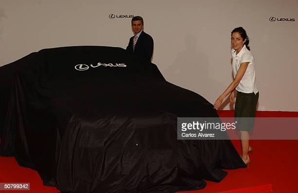 Carolina Adriana Herrera daughter of Carolina Herrera launches the new Lexus SC 430 CH car designed especially for her at Cenital Club May 4 2004 in...