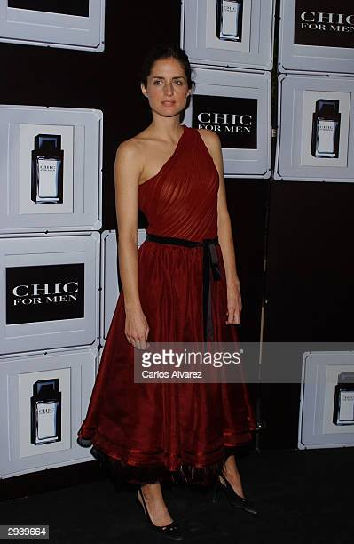 Carolina Adriana Herrera daughter of Carolina Herrera presents her new perfume 'Chic for Men' at the Florida Park Club on February 6 2004 in Madrid...