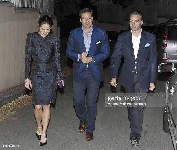 Carolina Adriana Herrera Miguel Baez 'El Litri' and Enrique Ponce attend the 40th birthday of Beltran Gomez Acebo on May 31 2013 in Madrid Spain
