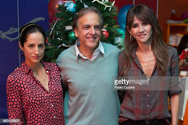 Carolina Adriana Herrera Paco Arango and Goya Toledo attend Aladina Foundation charity event at 'COAM' on December 13 2014 in Madrid Spain