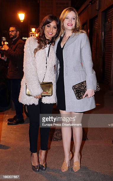 Carolina Bang and Hiba Abouk are seen leaving Emporio Armani party on April 8 2013 in Madrid Spain