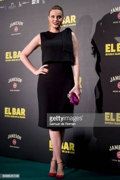 Carolina Bang attends 'El Bar' premiere at Callao cinema on March 22 2017 in Madrid Spain