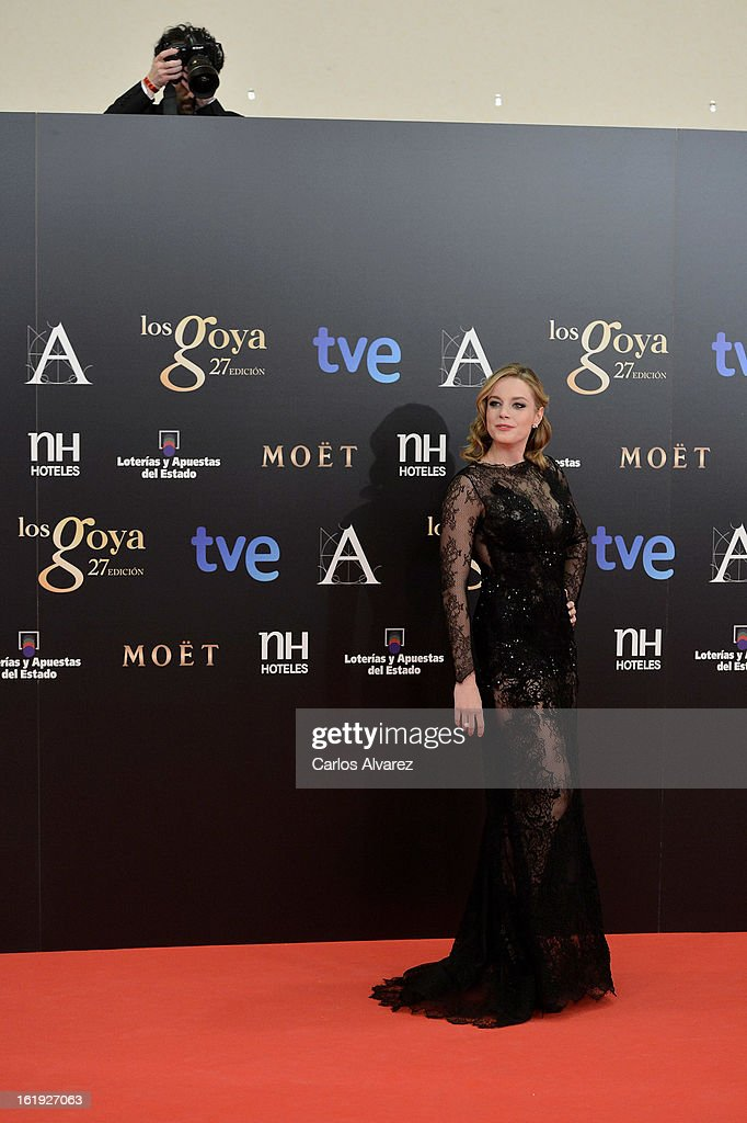 Carolina Bang attends Goya Cinema Awards 2013 at Centro de Congresos Principe Felipe on February 17, 2013 in Madrid, Spain.