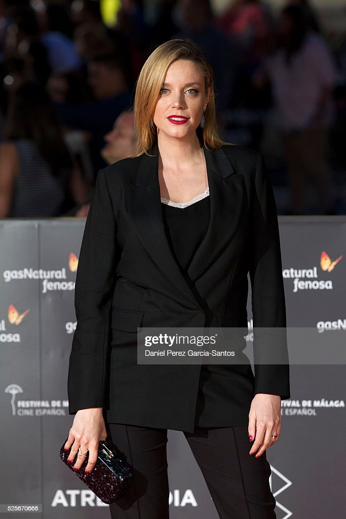 Carolina Bang attends 'La Ultima Piel' premiere at the Cervantes Teather during the 19th Malaga Film Festival on April 28, 2016 in Malaga, Spain.