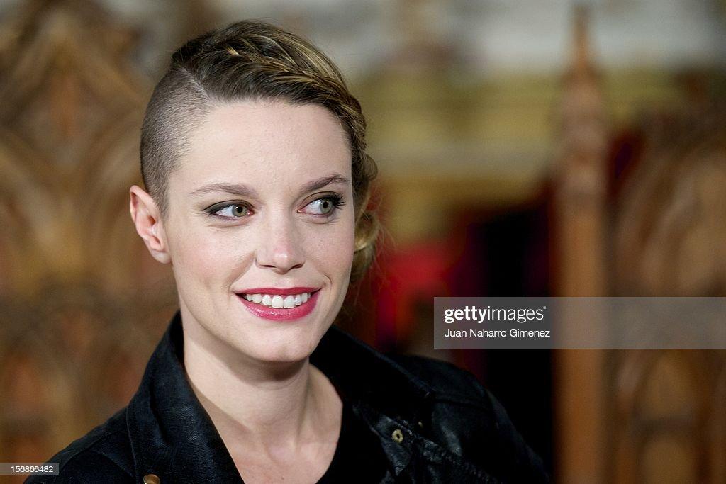 Carolina Bang attends 'Las Brujas de Zugarramurdi' on set filming at Palacio del Infante Don Luis on November 23, 2012 in Madrid, Spain.