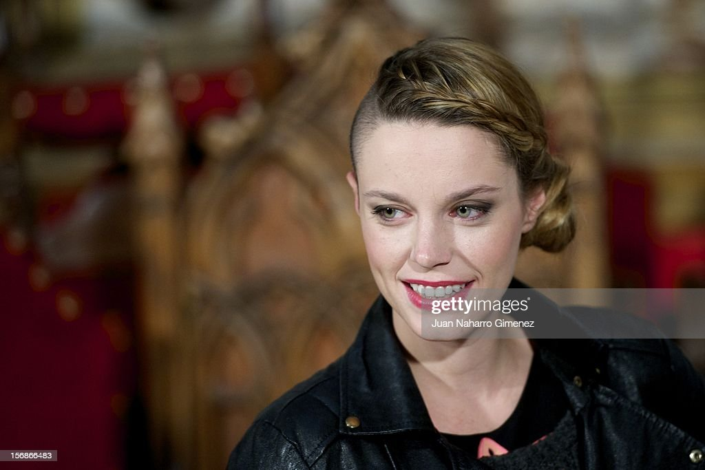 Carolina Bang attends 'Las Brujas de Zugarramurdi' on set filming at Palacio del Infante Don Luis on November 23, 2012 in Madrid, Spain.