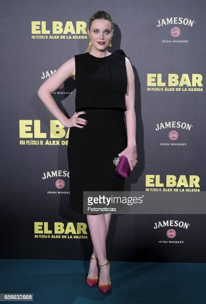 Carolina Bang attends the 'El Bar' premiere at Callao cinema on March 22 2017 in Madrid Spain