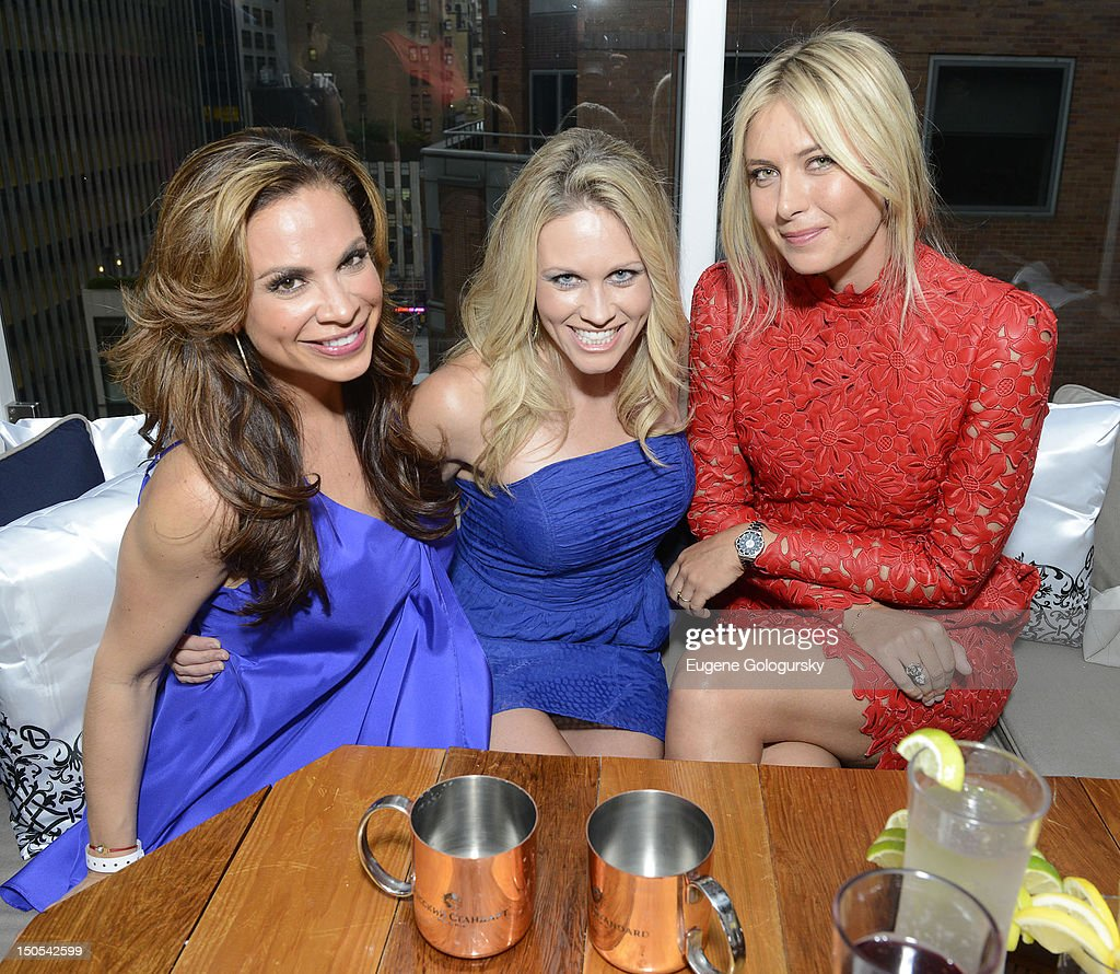 Carolina Bermudez, Lisa Kearney and <a gi-track='captionPersonalityLinkClicked' href=/galleries/search?phrase=Maria+Sharapova&family=editorial&specificpeople=157600 ng-click='$event.stopPropagation()'>Maria Sharapova</a> attend the Hamptons Magazine celebration with cover star <a gi-track='captionPersonalityLinkClicked' href=/galleries/search?phrase=Maria+Sharapova&family=editorial&specificpeople=157600 ng-click='$event.stopPropagation()'>Maria Sharapova</a> at the Haven Rooftop at the Santcuary Hotel on August 20, 2012 in New York City.