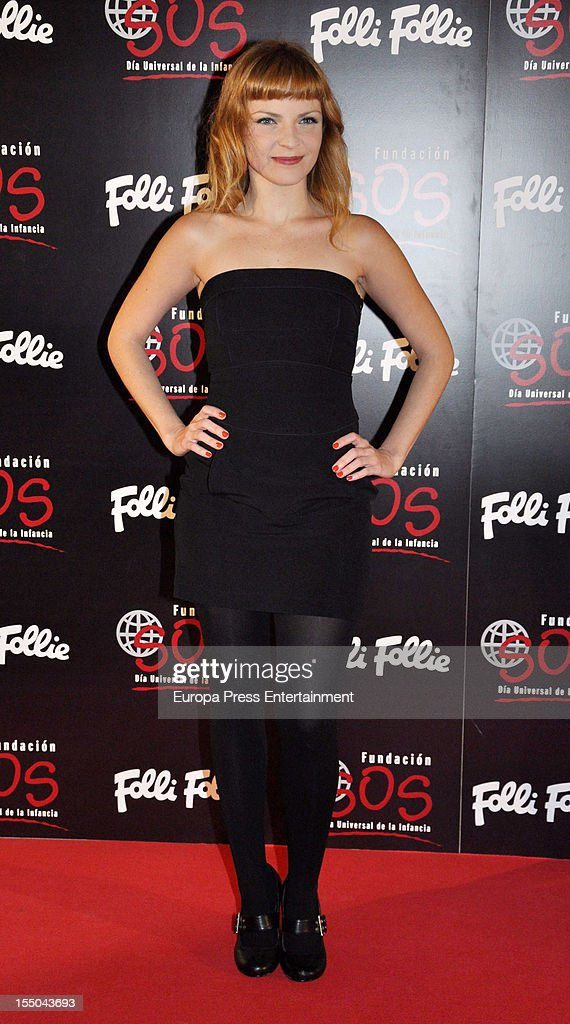 Carolina Bona attends the 'Folli Follie' campaign launch on October 30, 2012 in Madrid, Spain.
