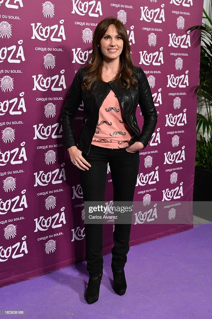 Carolina Casado attends 'Cirque Du Soleil' Kooza 2013 premiere on March 1, 2013 in Madrid, Spain.