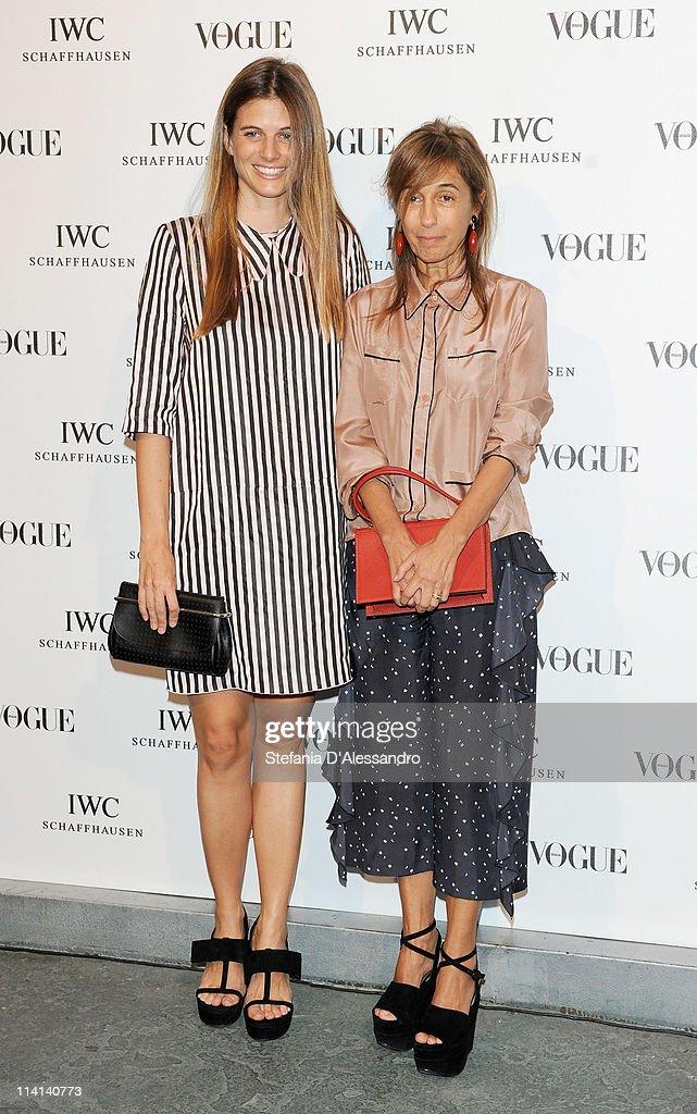 Carolina Castiglioni (L) and Consuelo Castiglioni attend Vogue and IWC present 'Peter Lindbergh's Portofino' at 10 Corso Como on May 12, 2011 in Milan, Italy.