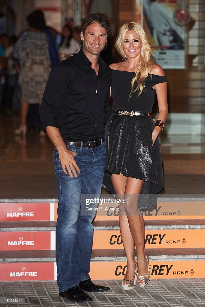 Carolina Cerezuela and Carlos Moya attend a Charity Gala against skin cancer at the Royal Nautical Club on August 1 2015 in Palma de Mallorca Spain