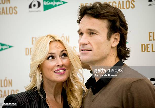Carolina Cerezuela and Carlos Moya attend an event at the Triathlon of the Gifts store to celebrate the 75th Anniverasy of the El Corte Ingles...