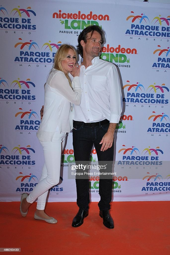 Carolina Cerezuela and Carlos Moya attend the opening of Nickelodeon Land on April 30 2014 in Madrid Spain