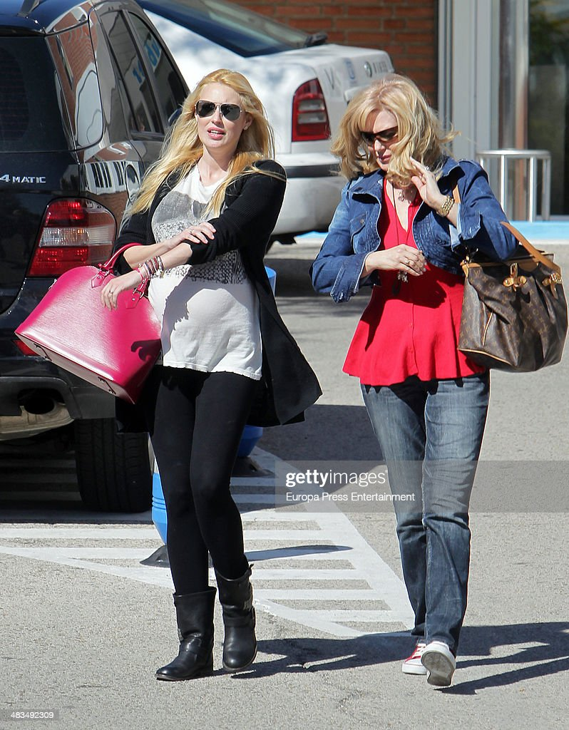 Carolina Cerezuela and her mother Maria Jose Gil are seen on April 8 2014 in Madrid Spain