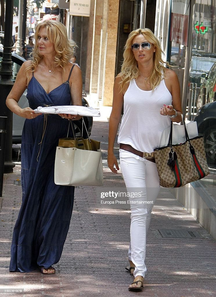Carolina Cerezuela and her mother Maria Jose Gil are seen on July 24 2012 in Palma de Mallorca Spain