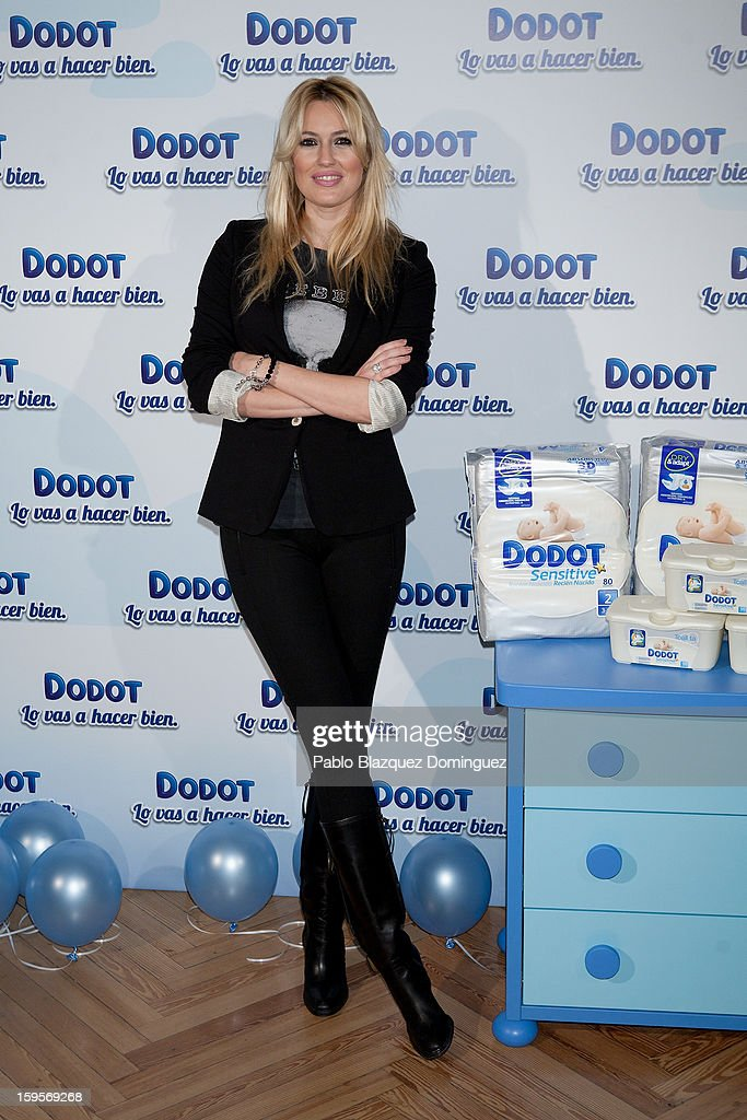 Carolina Cerezuela presents new Dodot campaign on January 16, 2013 in Madrid, Spain.