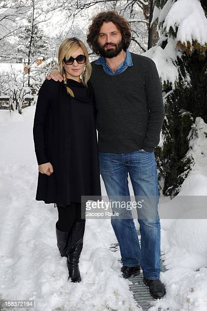 Carolina Crescentini and Guido Caprino attend the 22th Courmayeur Noir In Festival on December 14 2012 in Courmayeur Italy