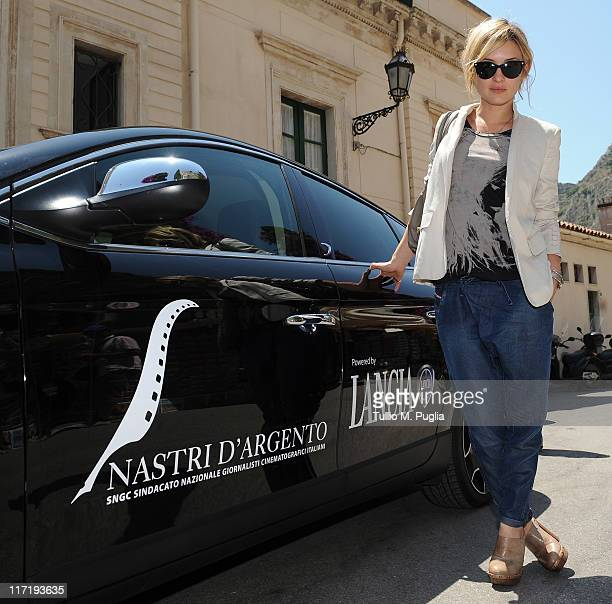 Carolina Crescentini arrives for the 2011 Nastri d'Argento Awards on June 24 2011 in Taormina Italy
