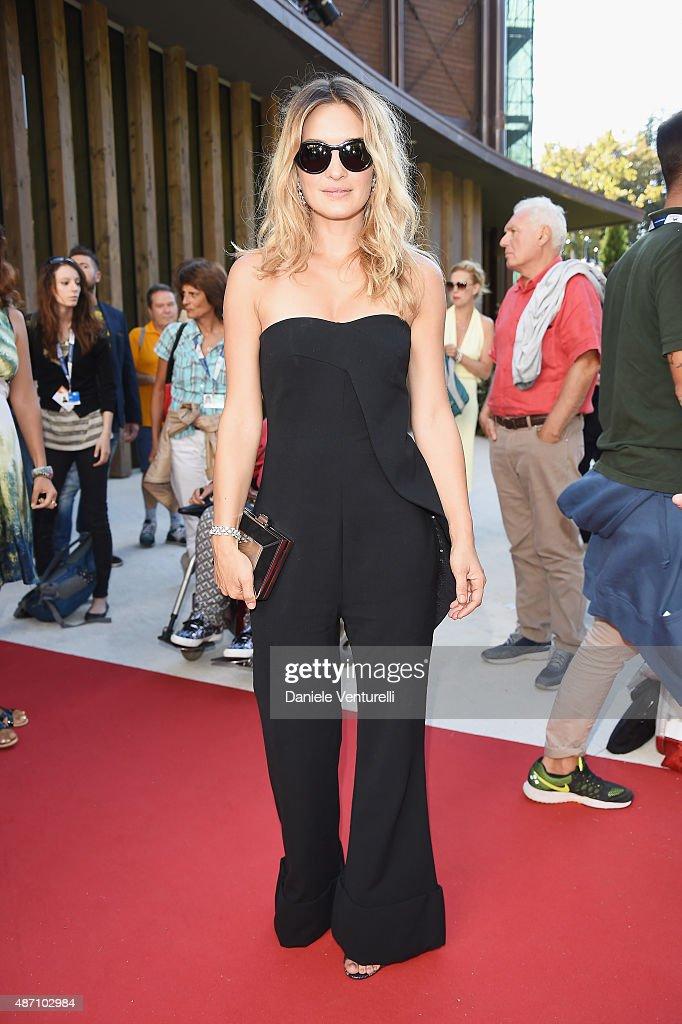 Carolina Crescentini attends a premiere for 'Pecore In Erba' during the 72nd Venice Film Festival at Sala Darsena on September 6 2015 in Venice Italy