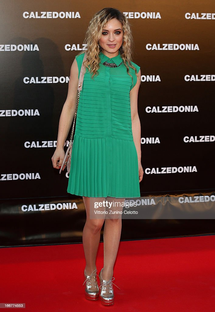 Carolina Crescentini attends Calzedonia Summer Show Forever Together on April 16, 2013 in Rimini, Italy.