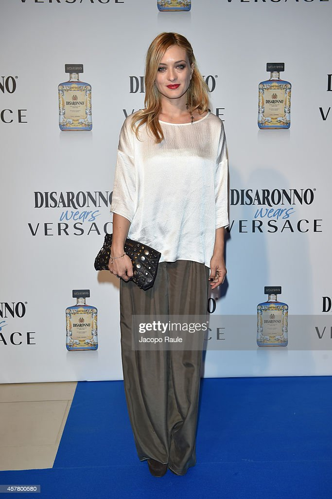 Carolina Crescentini attends Disaronno Wears Versace on October 24 2014 in Milan Italy
