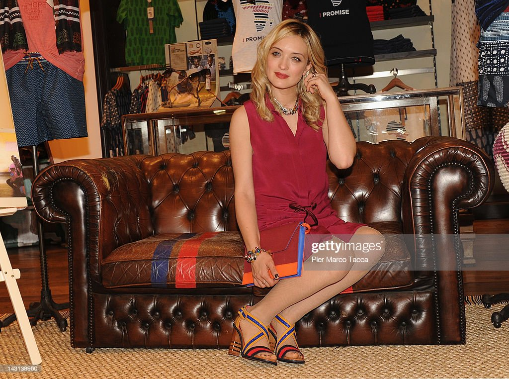 Carolina Crescentini attends Promise Collection by Tommy Hilfiger during 2012 Milan design week on April 19 2012 in Milan Italy