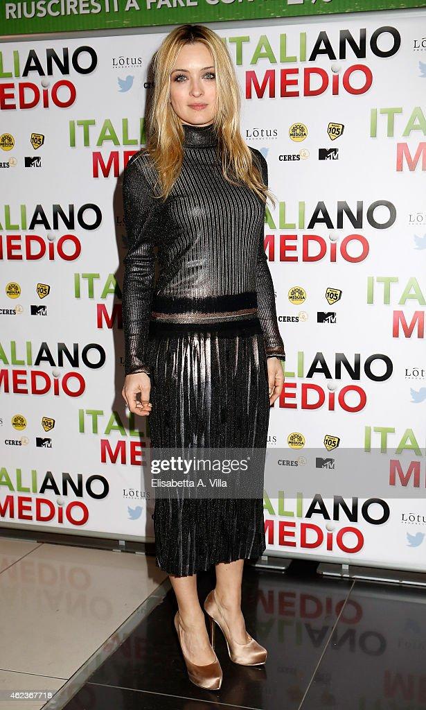 Carolina Crescentini attends the 'Italiano Medio' premiere at Cinema Adriano on January 27 2015 in Rome Italy