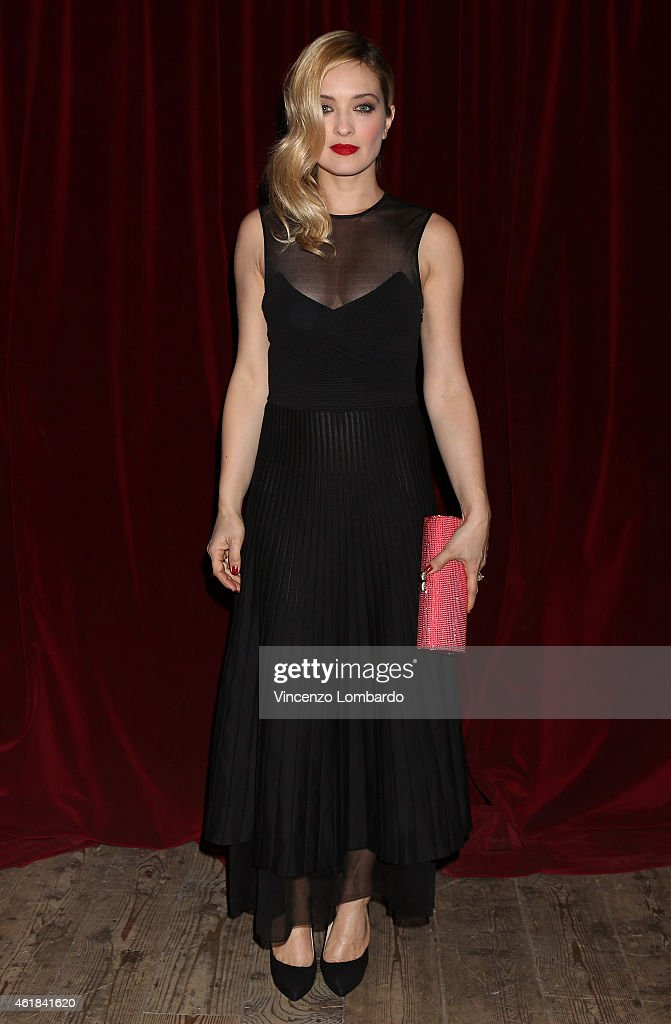 Carolina Crescentini attends the MAX E HELENE TV Movie Red Carpet on January 20 2015 in Milan Italy