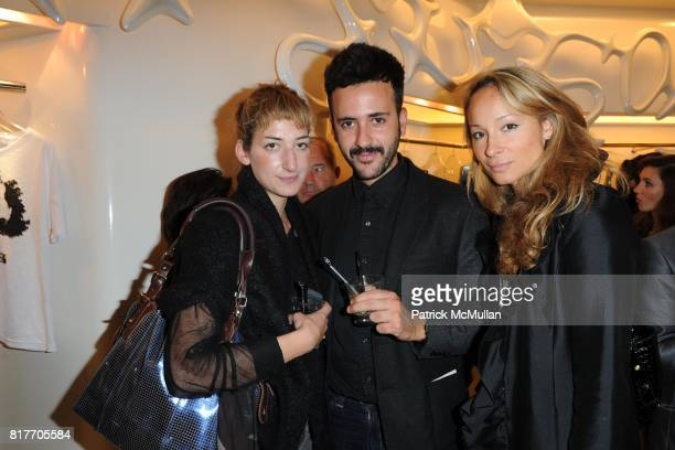 Carolina Daher Constantinos Menelaou and Indira Cesarine attend Carlos Miele and Vogue Italia Celebrate Limited Edition of TShirts Designed by Lapo...