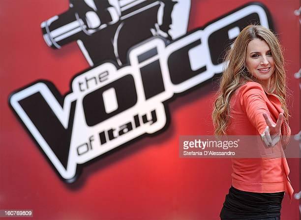 Carolina Di Domenico attends 'The Voice' Italian TV Show Photocall on February 5 2013 in Milan Italy