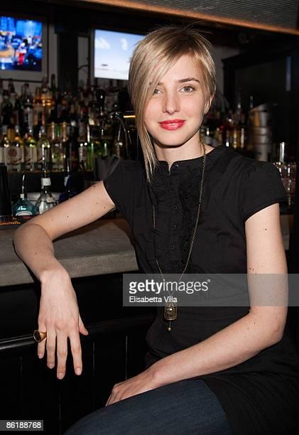 Carolina Di Domenico attends 'Wwwcaffebronzetticom' press conference at The Perfect Bun on April 23 2009 in Rome Italy