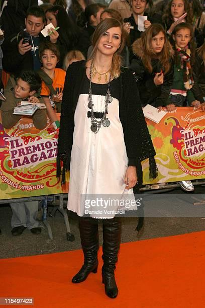Carolina di Domenico during 2006 Nickelodeon Kids Choice Awards Orange Carpet in Milan Italy