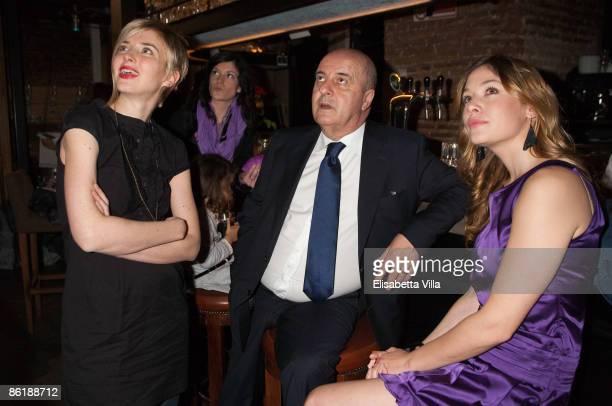 Carolina Di Domenico FIFA agent Ernesto Bronzett and actress Sarah Felberbaum attend 'Wwwcaffebronzetticom' press conference at The Perfect Bun on...