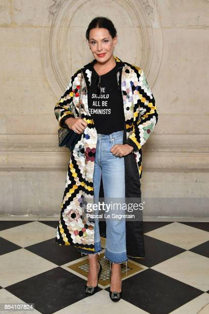 Carolina Ferraz attends the Christian Dior show as part of the Paris Fashion Week Womenswear Spring/Summer 2018 on September 26 2017 in Paris France