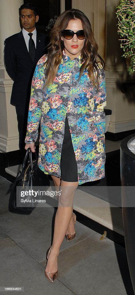 Carolina Flack attends Womenswear Sophia Kah Launch Party Held at the Connaught hotel on April 18, 2013 in London, England.