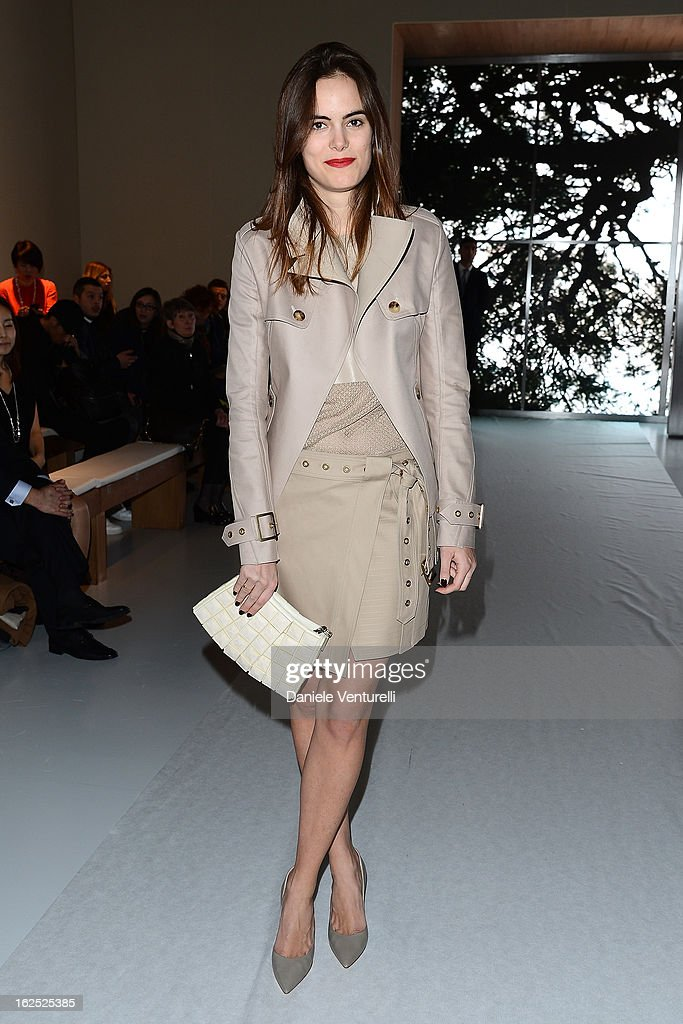 Carolina Gawronski attends the Salvatore Ferragamo fashion show as part of Milan Fashion Week Womenswear Fall/Winter 2013/14 on February 24, 2013 in Milan, Italy.