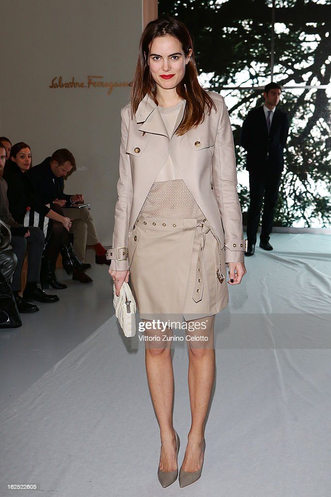 Carolina Gawronski attends the Salvatore Ferragamo fashion show during Milan Fashion Week Womenswear Fall/Winter 2013/14 on February 24, 2013 in Milan, Italy.