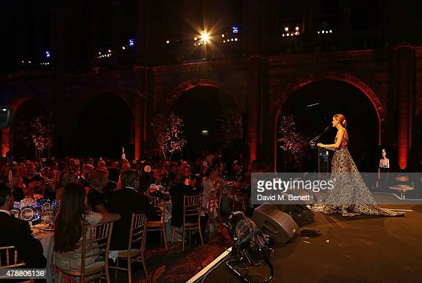 Carolina GonzalezBunster at the inaugural Walkabout Foundation gala drinks by Boujis London at Natural History Museum on June 27 2015 in London...