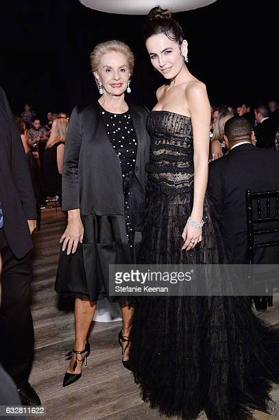 Carolina Herrera and Camilla Belle attend PSLA partners with Carolina Herrera for Winter Gala on January 26 2017 in Beverly Hills California