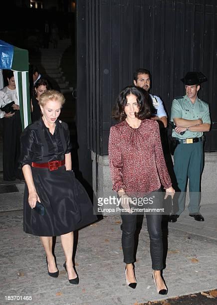Carolina Herrera and her daughter Carolina Adriana Herrera attend a party at USA Embassy on September 30 2013 in Madrid Spain